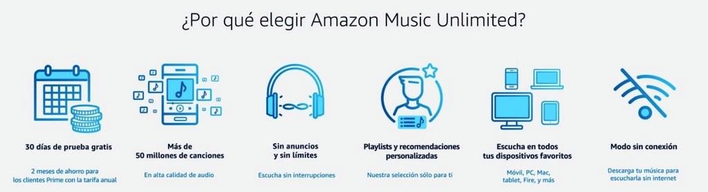 porque elegir amazon music unlimited