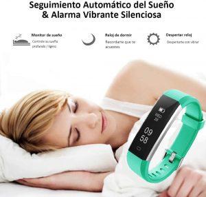 Pulsera Deportiva con Contador de Calorías Monitor de Sueño para iOS Android