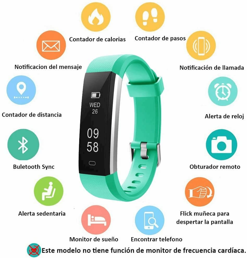 Monitor de Actividad Impermeable IP67 Fitness